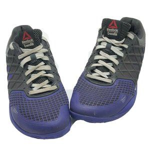 Reebok Crossfit Mens Black And Purple Lace Up Shoe